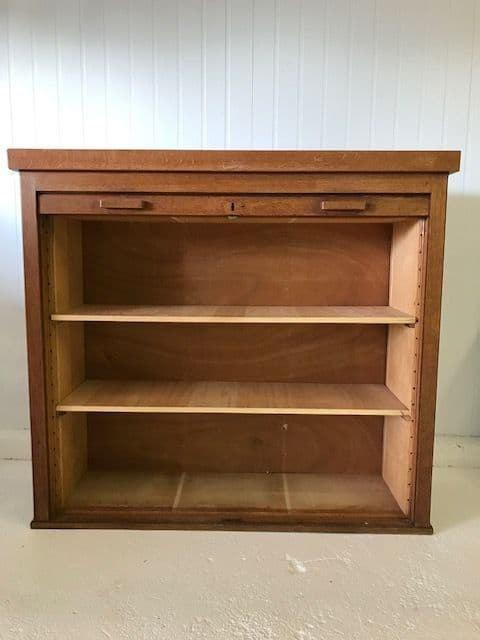 Vintage Antique French Filing Cabinet / Tambour - g144